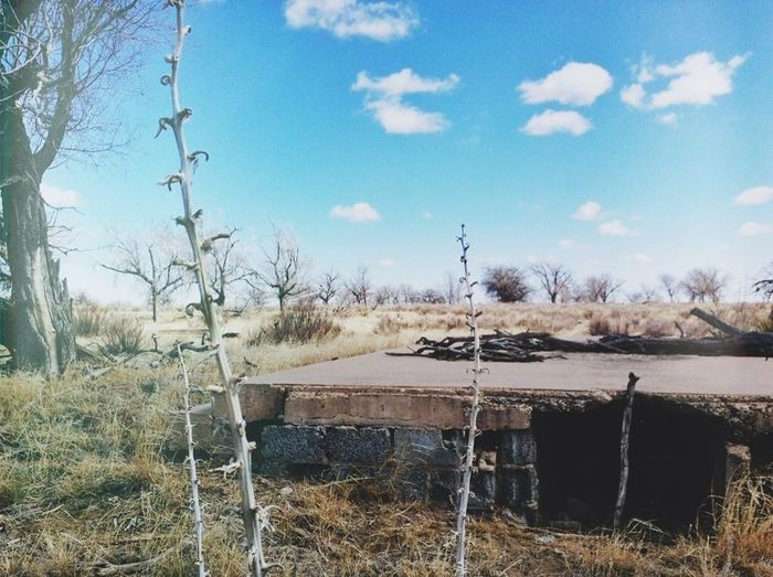Remains of the high school at Camp Amache, a Japanese American internment camp, in SE #Colorado. Opened in Aug. 1942 with a maximum population of 7,318 persons.