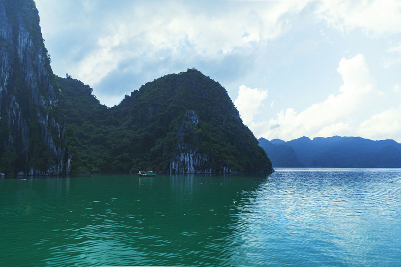 Vietnam Halong Bay Beauty In Nature Day Lake Mountain Nature No People Outdoors Reflection Scenery Sky Tranquility Water Waterfront