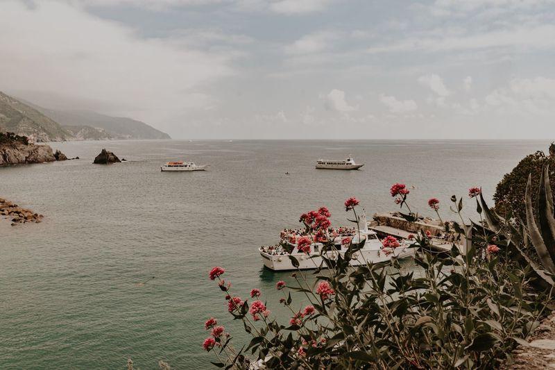Flower Boat Italy EyeEm Selects Water Sky Beauty In Nature Sea Land Beach