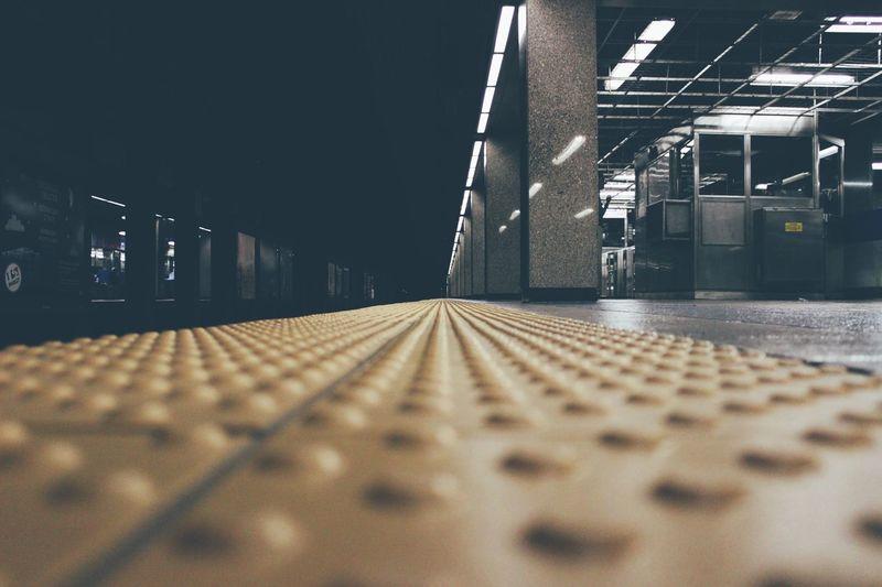 Surface Level Of Railway Station Platform