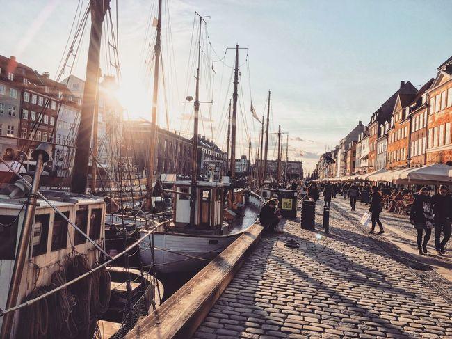 Copenhagen, Denmark Nyhavn Sunset