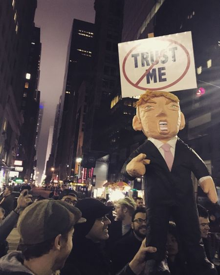 Women's March, NYC Text City Real People Night Crowd Outdoors People Adult Womensmarch NYC Womensmarchnyc Protest Feminism NOTMYPRESIDENT Protest Signs