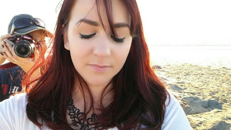 Newport Beach Girl With Camera Beach Ocean Sunset Newport Southern California California Cali