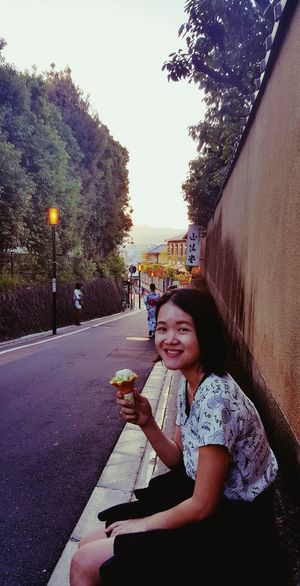 it took her ages to finish tht icecream... she said its too delicious to finish fast Melted Ice-cream Cheerful Happiness Girls Visual Creativity