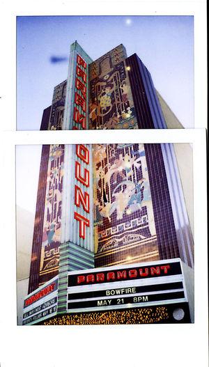 Let the Follies begin. All The Neon Lights Art California Cinema Collage Movie Palaac Ne Paramount  Polaroid Sx-70 Theater Tile Mural