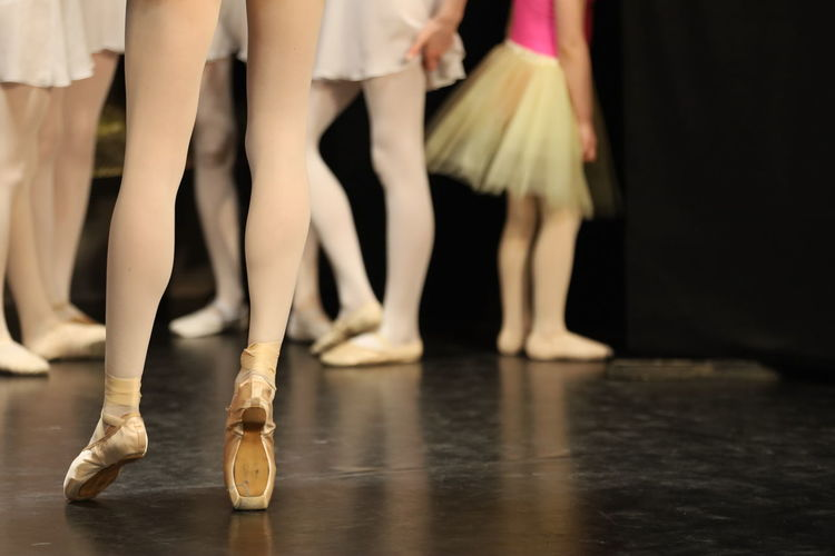 Low section of people dancing - ballet