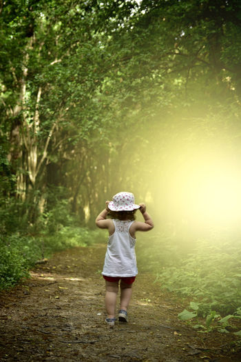 my little princess Sunlight Sunshine Babygirl Woods Naturelovers PortraitPhotography Portraitmood Forestwalk Forest Photography Sunlight Sunbeam Sunset_collection Tree Full Length Females Forest Sun Hat Standing Hat Fairy Princess Fairy Tale My Best Photo #NotYourCliche Love Letter