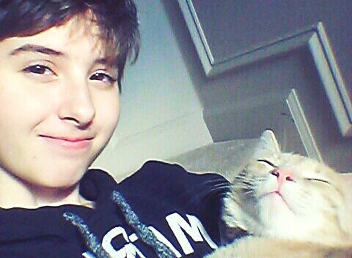 Transgenderpride Transisbeautiful Transgender Selfie That's Me Ftm Transguy Cat My Cat Bing and i