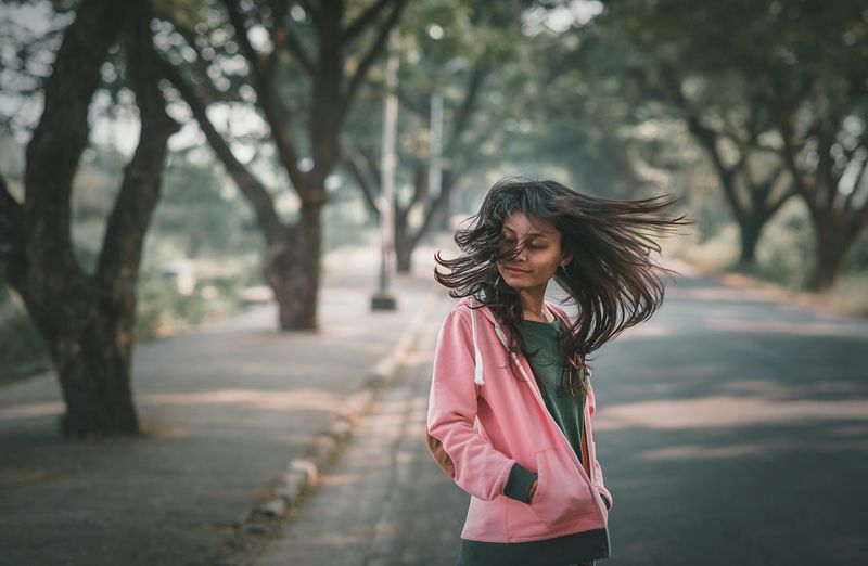 Happiness Motion Smiling Only Women Dancing Cheerful One Woman Only One Person People Fun Enjoyment Beauty One Young Woman Only Portrait Women Outdoors Nature Happiness Long Hair