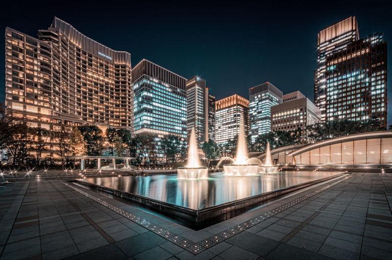 Oasis in Concrete Jungle, Tokyo Marunouchi City Cityscape Nightphotography Night Night View Nightscape Nightview Skyscraper Urban 夜景 東京 EyeEmNewHere HUAWEI Photo Award: After Dark