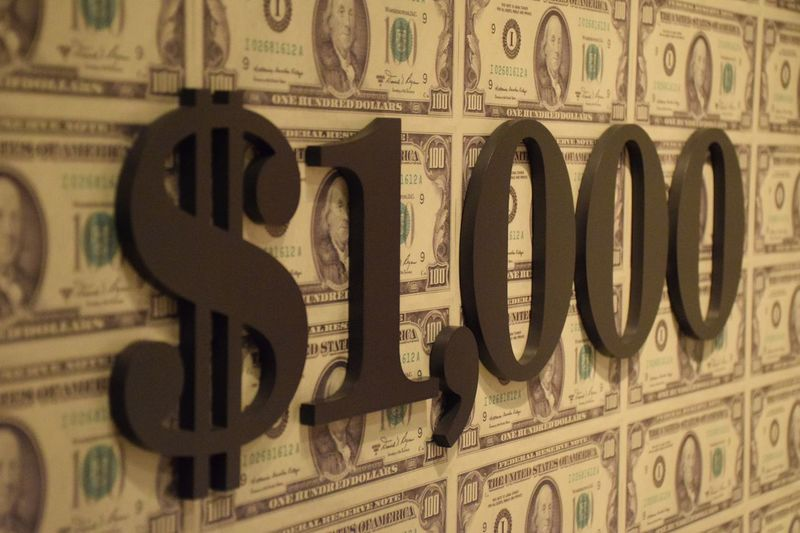 1,000 Close-up Currency Day Dollar Sign Indoors  No People One Thousand Dollars Text