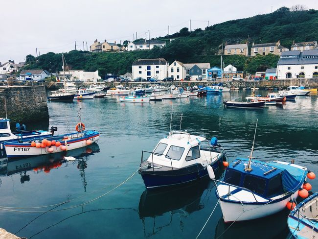 ⛵️ // Transportation Water Nautical Vessel Waterfront Cornwall Porthleven Boat Mode Of Transport Moored IPhoneography Sea