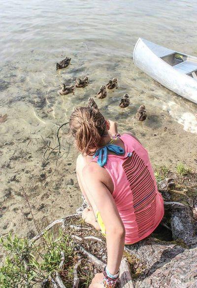 Kids Beach Ducks White Lake
