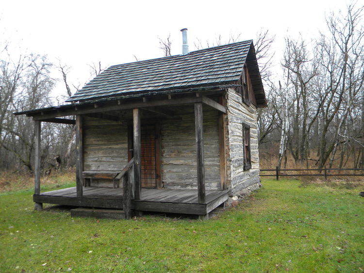 Homestead Minnesota Pioneer Rustic Architecture Building Exterior Built Structure Cabin Clear Sky Day Fall Field Grass House Nature No People Outdoors Poplar Roof Settlers Sky State Park  Tree