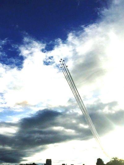 Cloud - Sky Sky Flying Japan Flugzeug Airplane Airshow ブルーインパルス 空 航空自衛隊 Blue Impulse 6 松島基地 第11飛行隊 第4航空団