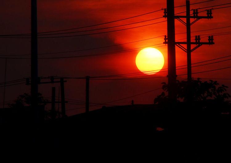 Dark Dawn Illuminated Nature Night Sadness Sunset Sunset #sun #clouds #skylovers #sky #nature #beautifulinnature #naturalbeauty #photography #landscape Sunset Silhouettes