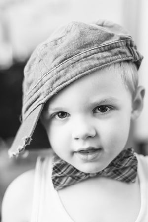 Kid Hipster Bowtie Black & White