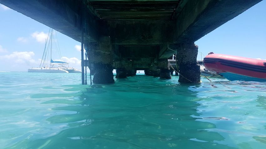 Sea Water Outdoors Built Structure Architecture No People Nature Island Travel Tropical Climate Tropiques Gwada  Guadeloupe Gwadeloupe Bridge Under The Bridge