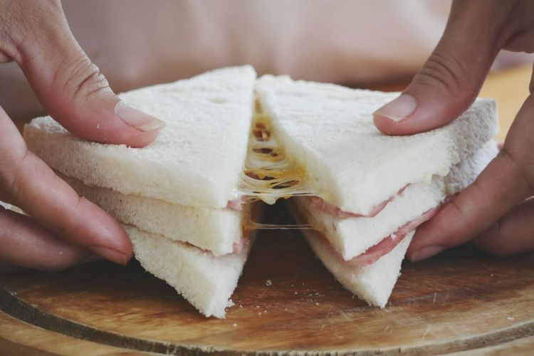 Sandwich Ham Cheeses.. Sandwiches Ham Cheese Meal Breakfast Homemade