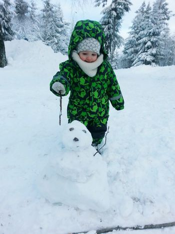 Love My Family Love My Nephew Alexander Little Boy Playing Snowman⛄ Frosty The Snowman Winter Warm Clothing Snow Cold Temperature Childhood Happiness Outdoors Winter Winter Wonderland Extreme Weather It Is Cold Outside Winter 2017 January 2017 The Places I've Been Today How Is The Weather Today? Looking At Camera Portrait