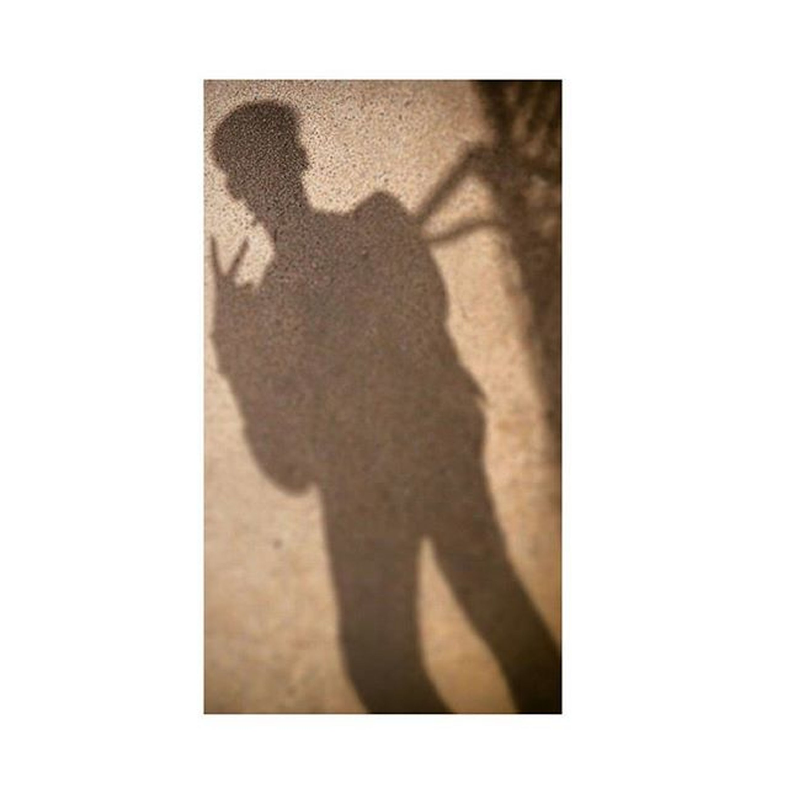 shadow, focus on shadow, lifestyles, transfer print, high angle view, auto post production filter, leisure activity, men, standing, sunlight, unrecognizable person, copy space, person, silhouette, day, outdoors, holding