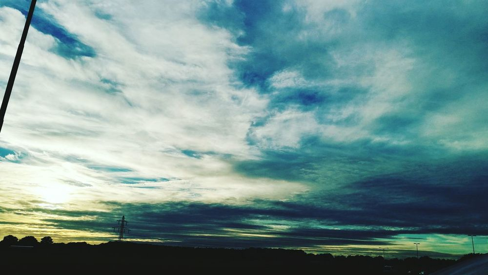 Sky Tranquil Scene Scenics Tranquility Silhouette Beauty In Nature Landscape Cloud - Sky Nature Cloud Idyllic Dark Majestic Blue Outdoors Outline Calm Cloudscape Non-urban Scene Sun People And Places