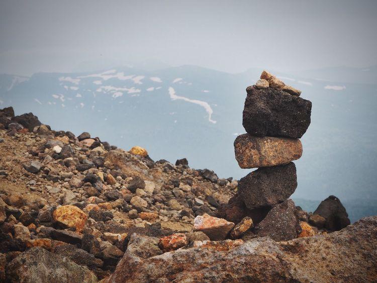Rock - Object Rock Formation Nature Tranquility Scenics Mountain Asahidake Rocky Mountains Rock Pile
