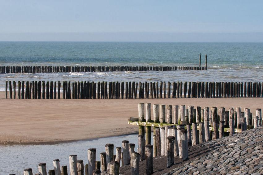 't Killetje Sony A700 EyeEm Market © EyeEm Premium Collection Beach Breakwater Pattern Scenics Sea Sky The Netherlands Wood Zeeland  Zeeuws Vlaanderen