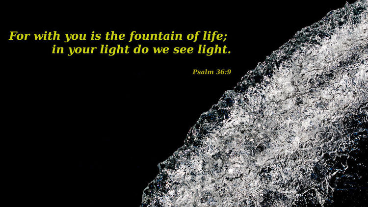 Psalm 36,9 Bibel  Bible Fountain Life Light Nature Psalm Waterfall God GodIsGood