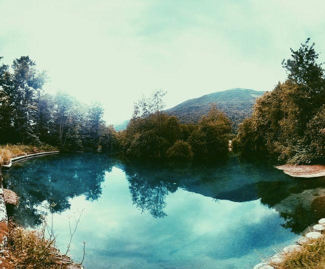 Landscape River Mountains Breathe humus park