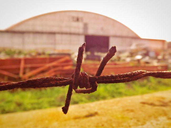 Barbed Wire Hangar Forbidden Area Selective Focus Focus On Foreground Phonetography Zenfone5 Dof Depth Of Field Bandung