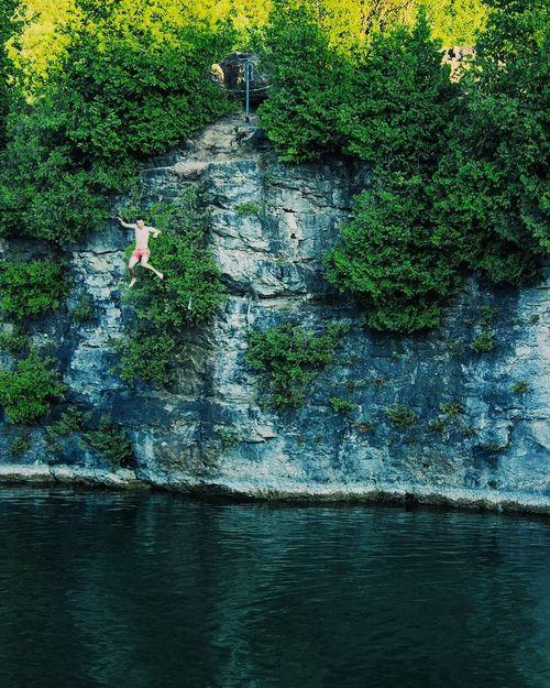 Water Jump Jumping Jumpshot Diving Falling Cliff Jumping Cliffs And Water Cliff Jumper Cliff Jump Quarry Quarrylake River Water