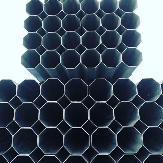 Geometric Shape Hexagon Pattern No People Shape Metal Close-up