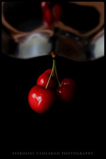 close up The Creative - 2018 EyeEm Awards Black Background Fruit Red Table Cherry Close-up Food And Drink