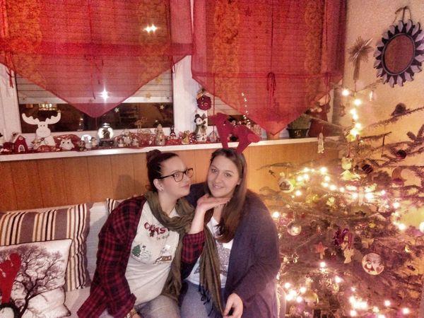 Sisters♡ Christmas Togetherness Celebration Happiness Love Smiling Christmas Decoration Christmas Tree 🎄🌠💕