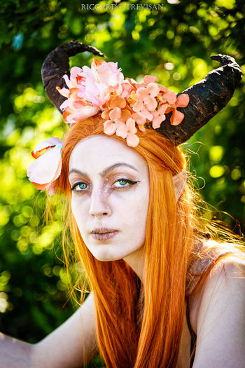 Grunge Faun :3 Portrait Young Adult Young Women Headshot Hair One Person Long Hair Real People Leisure Activity Hairstyle Lifestyles Plant Beauty Flower Beautiful Woman Flowering Plant Nature Looking At Camera Women Wearing Flowers Outdoors Flower Head Teenager Eyes Pale