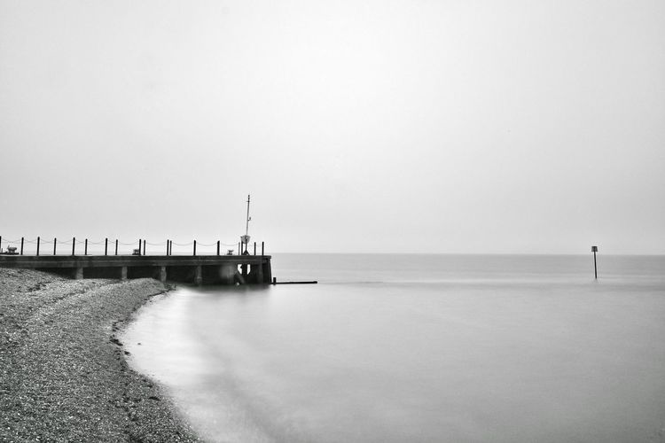 Sea Water Outdoors Horizon Over Water Beach Tranquility No People Kent Calm Shore Fujifilm Xpro2 Water Surface Longexposurephotography Fujifilm_xseries BigStopper Leefiltersystem X-PRO2 Photography Blackandwhitephotography Monochrome Photography Whitstable Whitstable Harbor