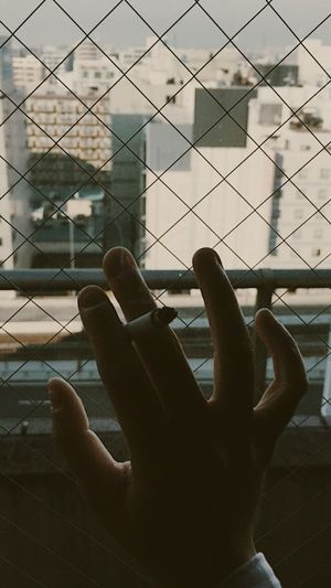 Human Hand Human Body Part One Person Human Finger Real People Close-up Day Indoors  Architecture Building Exterior People Adult City Cigarette  Smoking OSAKA Japan Travel Skyline City Life Let's Go. Together.