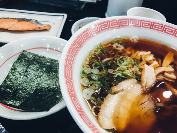 Breakfast EyeEmNewHere Japan Japanese Food Japanese Culture Japanese Style Lunch Noodles Ramen Noodle The Week On EyeEm Bowl Close-up Day Eat Food Food And Drink Freshness Healthy Eating Indoors  Meal No People Ramen Ready-to-eat Restaurant Serving Size Set Meal Soup Table Tasty