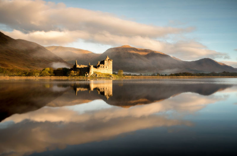 Perfect castle Kilchurn Castle, Loch Awe Reflection Lake Reflection No People Reflection Scotland Architecture Travel Mountain Sunlight Nikonphotography Landscape