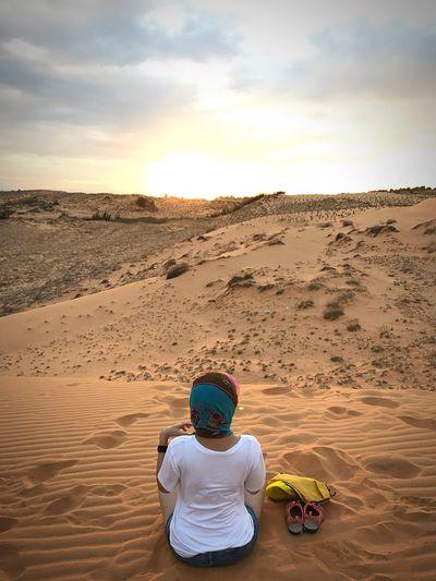 Sand Sky Sand Dune Sunset Landscape Outdoors Jurney Muine Muine, Vietnam  Women Around The World