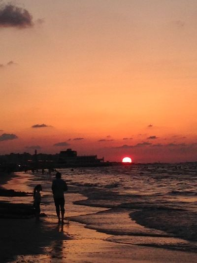 Adult Adults Only Beach Beauty In Nature Day Full Length Men Nature One Man Only One Person Outdoors People Port Said Port Said Beach Real People Scenics Sea Silhouette Sky Standing Sunset Water EyeEmNewHere Tamer Gad Long Goodbye