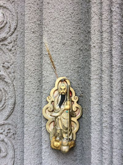 Chinese Culture No People Close-up Metal Jewelry Gold Colored Day High Angle View Religion Belief Ornament Design Ornate Spirituality Wealth Wall - Building Feature Still Life
