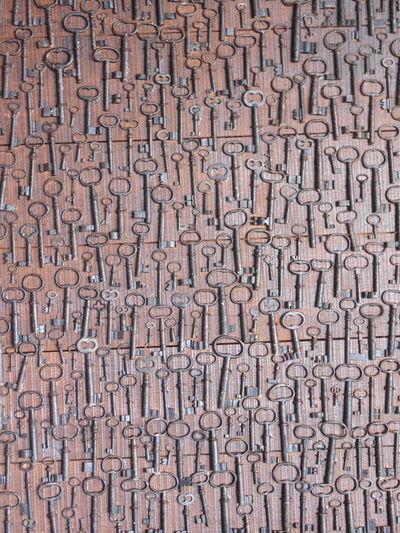Full frame shot of keys