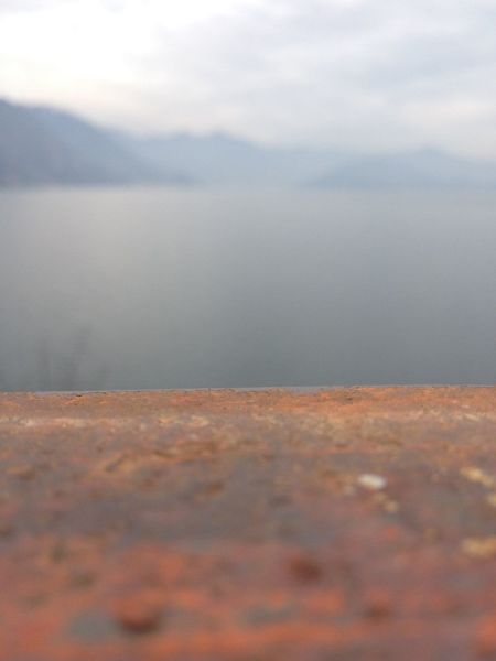 Lake of Iseo in a foggy day. Fog Beauty In Nature Water Scenics - Nature Tranquility Cloud - Sky Sky Sea Landscape