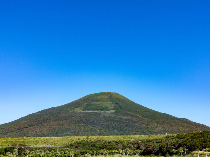 G1X Hachijo-Fuji Beauty In Nature Blue Clear Sky Copy Space Day Land Landscape Mountain Nature No People Non-urban Scene Outdoors Scenics - Nature Sky Volcano