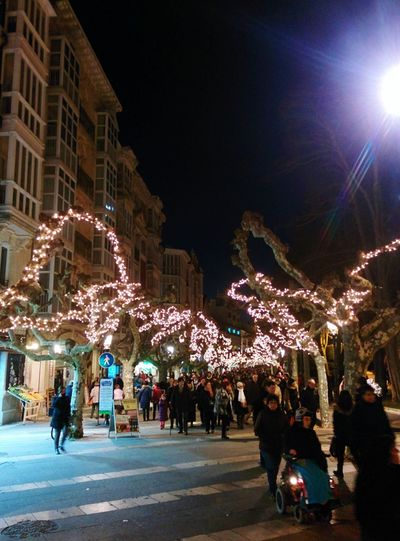 Burgos SPAIN Winter Christmas Lights