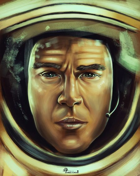 The martain Themartian Digital Painting Drawing Photoshop Painting Sketchbook Sketchbookx ArtWork Artist Artistic MOVIE Scifi Drawoftheday Actor Post Poster