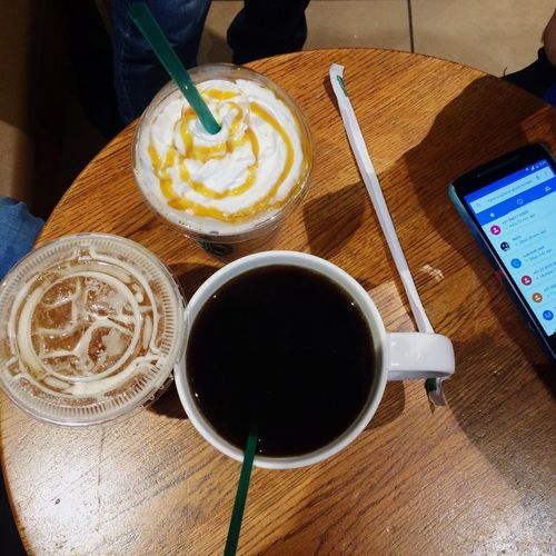Catching up over coffee! Americano Coffee Addiction Drinks Friends
