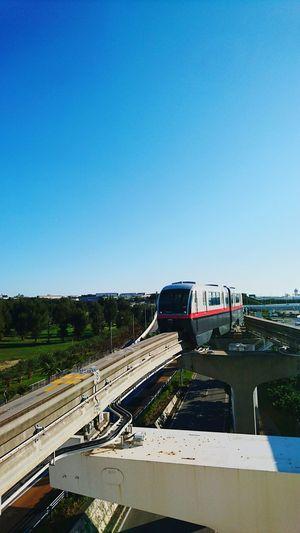 Transportation Blue Clear Sky Monorail  Travel Destinations OKINAWA, JAPAN